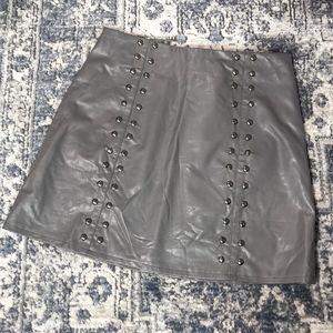 NWT LF Mint Vanilla Sydney Faux Leather Mini Skirt